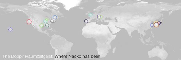 Dopplr Map 2011