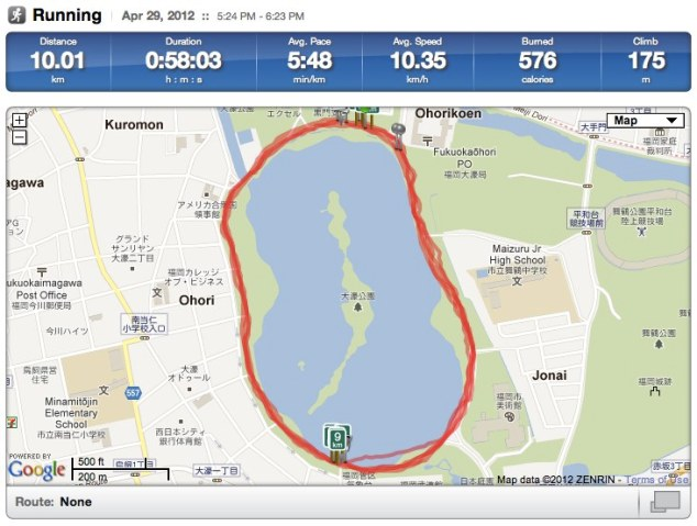Ōhori Park 10k Run