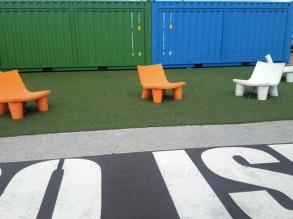 Chairs near Wynyard Crossing