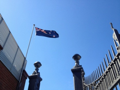 New Zealand flag at Taranaki Street