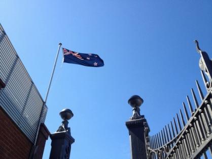 New Zealand flag at Taranaki Street