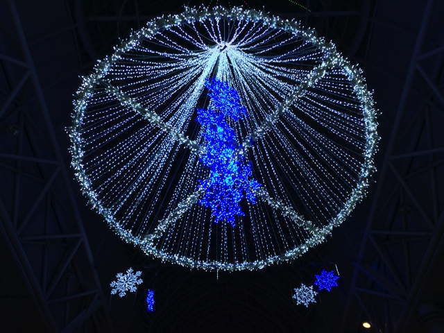 Blue Illumination in Tenmonakan Street