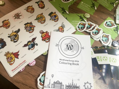 Wapuu stickers & coloring book
