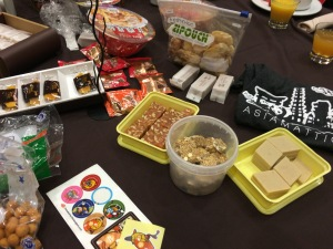 Sweets and noodles from Asia