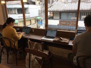 Coworking at Tenrōin Bookstore in Kyoto
